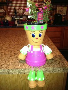 Clay pots, Terracotta and Clay Flower Pot Art, Clay Flower Pots, Terracotta Flower Pots, Flower Pot Crafts, Clay Pot Projects, Clay Pot Crafts, Diy Crafts, Candy Crafts, Flower Pot People