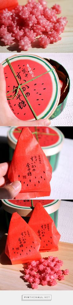 Japanese Watermelon Kompeito. Eat this with friends while watching your favorite Ghibli anime!!