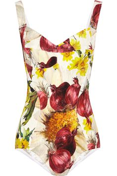 Dolce & Gabbana  Onion and floral-print brocade bodysuit    $1275    For the James Beard Award, perhaps?