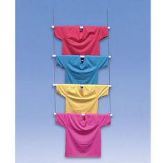 T-Shirt Ladder Display. Hang T-shirts, sweatshirts or beach towels from the ceiling or wall to show available styles to your customers | Specialty Store Services