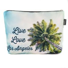 Live, Love, Los Angeles Scene Pouch