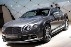 2014 @Bentley Motors Continental GT Speed arrives as the fastest Flying B to date. http://aol.it/1i8USBd #geneva