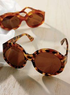 Francois Pinton Large Havana Tortoise Sunglasses