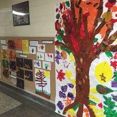 Myers' Kindergarten: Investigating the Colors of Leaves Kindergarten Inquiry, Kindergarten Themes, Autumn Activities, Preschool Activities, Autumn Eyfs, Tree Study, Autumn Display, Apple Theme, Beginning Of School