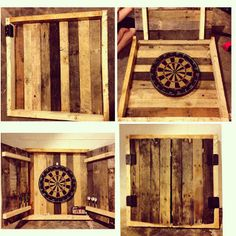 Pallet Dart Cabinet   Upcycling Creations - Turning Trash Into Treasure