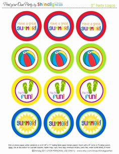 Free printable happy summer gift tags end of school year links end of the school year activities free summer circles attach to your treat bags negle Choice Image