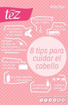 8 tips para cuidar el cabello. No te pierdas las mascarillas capilares de Tez http://tez.com.co/us_portfolio_category/mascarillas-capilares/