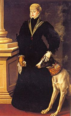 Juana de Austria (1535-1573) Artist: Alonso Sánchez Coello, (1532-1588) Date: 1557 Painting location: Gemäldegalerie,Kunsthistorisches Museum, Vienna