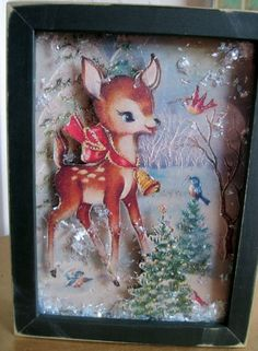 Christmas Deer Shadow Box