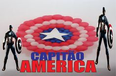 Como Fazer ESCUDO CAPITÃO AMÉRICA - Balões -Balloons- Globos