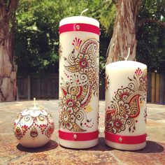 Set of 3 Customizable Henna Candles - Perfect Wedding Gift on Etsy