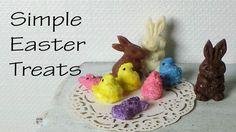 Easy/Simple Peeps & Chocolate Bunny Polymer Clay Tutorial