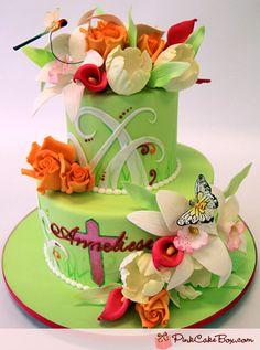 Spring Communion Cake by Pink Cake Box