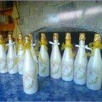 botellas decoradas para brindis de boda – decoraciones para bodas