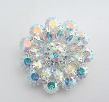 Wedding brooch made with genuine Swarovski rhinestones