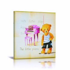 Wall art to make your baby's and kid's rooms stylishb- Stylish Baby Boutique & Stylish Kids Boutique. Smart Bear Canvas Gallery Wrapped Art  stylishmomandkids... #Mom #Maternity #Art #Decorating #Babybump
