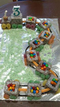 Lamington train cake