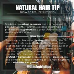 Black Girls Tips — How to Reduce Shedding