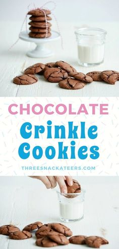 An easy Chocolate Crinkle Cookie recipe with a twist! Click through for the secret ingredient that makes these cookies extra special. Chocolate Crinkle Cookies, Chocolate Crinkles, Oatmeal Cookies, Unique Recipes, Popular Recipes, Amazing Recipes, Easy Recipes, Peanut Butter Cookies, Sugar Cookies