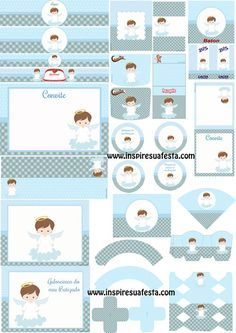 Baptism Party, Baby Christening, Party Kit, Baby Party, Candy Bar Bautizo, Baptism Decorations, Paper Flower Backdrop, Baby Album, Kit Digital