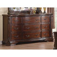 Coaster Company Maddison Brown Cherry 9-drawer Dresser (Dresser), Red #coasterfurnituredressers