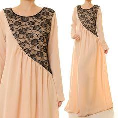 Beige Maxi Dress | Abaya Maxi Dress Long Sleeve | Maternity Maxi Dress | Long Sleeves Maxi Dress | Baby Shower Dress | Bridesmaid Dress 6209 by Tailored2Modesty on Etsy