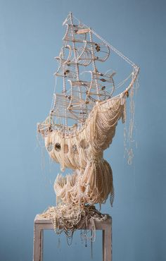 Old Pearl Necklace Pirate Ship