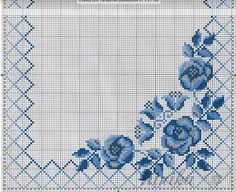 This Pin was discovered by Lau Cross Stitch Rose, Cross Stitch Borders, Cross Stitch Flowers, Cross Stitch Designs, Cross Stitching, Cross Stitch Patterns, Hardanger Embroidery, Cross Stitch Embroidery, Embroidery Patterns