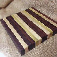 Walnut and Birch Butcher Block Cutting Board by OffTheBlockDesigns, $100.00