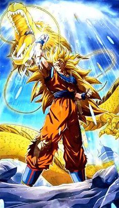 11x17 13x19 Dragon Ball Z Poster Super Saiyan 3 Goku Dragon Fist Shenron