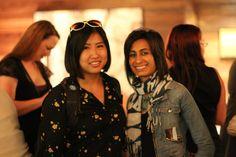 Women 2.0 co-founders Shaherose Charania and Angie Chang at San Francisco Founder Friday. Aug. 2011.  #startups #entrepeneurs  http://women2.com/city-meetup/san-francisco/.  Photographer: Erica Kawamoto Hsu http://ericakhsu.com/
