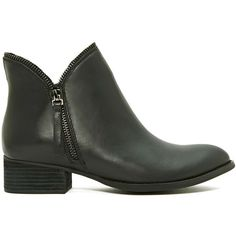 Jeffrey Campbell Crockett Ankle Boot ($88) ❤ liked on Polyvore featuring shoes, boots, ankle booties, ankle boots, black washed, summer boots, summer booties, black bootie, jeffrey campbell boots and black boots