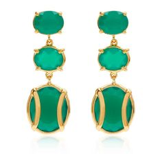 Lexington Green Chalcedony Earring Alexandra Alberta ($380) ❤ liked on Polyvore featuring jewelry, earrings, green earrings, green chalcedony earrings, wolf earrings, chalcedony jewelry and wolf jewelry