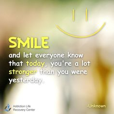 Smile to show that you've become stronger. #smile #stronger #inspirational