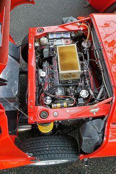 Lancia Stratos HF engine Motor Engine, Car Engine, Rally Car, Car Car, Sport Cars, Race Cars, Supercars, Kit Cars, Fiat