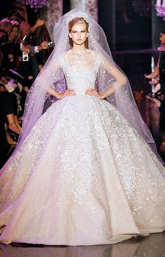 #WeddingDress Inspiration from Fall 2014 Couture Fashion Week - Elie Saab from #InStyle
