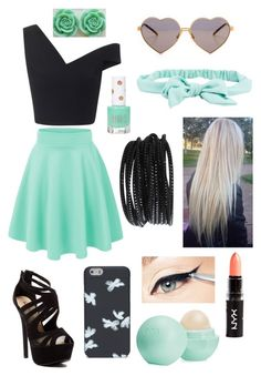 """""""Mint green!"""" by mfgsoccer ❤ liked on Polyvore featuring Maticevski, Red Circle, Marc by Marc Jacobs, Wildfox, Aéropostale, Eos, Topshop, Pieces, women's clothing and women's fashion"""