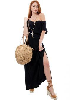 Τσάντα στρογγυλή Miss Pinky πλεκτή ψάθινη - Miss Pinky Straw Bag, Cold Shoulder Dress, Womens Fashion, Bags, Dresses, Products, Handbags, Vestidos, Women's Fashion