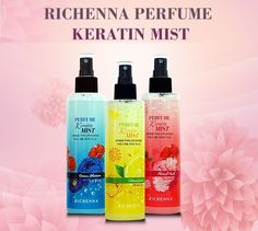 RICHENNA Perfume Hair Mist 250 ml 3 Type Natural Styling & Haircare Long Lasting #Richenna