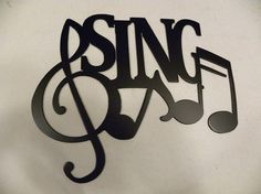 Sing Word with Notes Metal Wall Art Music Decor