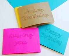 DIY: Pinhole Cards