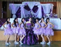 champagne quinceanera dresses with damas | Hall Decor: Linens, Table Covers, Arches, Columns, Drapery ...