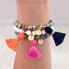 Instagram : @lovesaffect #lovesaffect #jewelry #style #tasselbracelet #tassel #bracelet #personalize #color #pretty