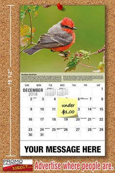 2021 Garden Song Birds Wall Calendars low as Advertise your business, organization or event logo and ad message the entire year! Promotional Calendars, Advertising Techniques, Wall Calendars, Garden Birds, Free Advertising, Business Organization, Good Night, Holiday Cards, Messages
