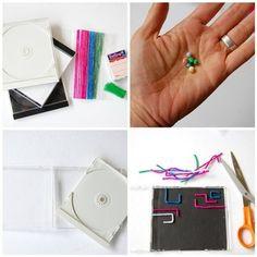 CDケースの中に自分の好きなように道を作ってBB玉を走らせちゃいましょう♪ 作り方もとっても簡単。 カラーモールを折ったり曲げたり、好きな形にしてグルーでケースに貼るだけです。スタートやゴールを決めて迷路みたいにして遊んでも楽しそうですね。