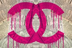 Chanel painting by Fluorescent Palace Chanel Wallpapers, Chanel Poster, Hippie Wallpaper, Photo Wall Collage, Pink Room, Everything Pink, Home And Deco, Diy Wall Art, New Wall