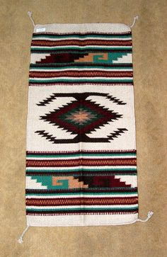 "This sturdy SW design wool weaving measure 20x40"" & can be used as a throw rug, a table topper or a decorative tapestry to hang on your wall.  $39.95 w/ free shipping w/in the USA #rug #tapestry #woven #homedecor #southwestern"