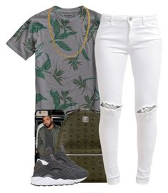 """""""7/5/15"""" by queenbrittani ❤ liked on Polyvore featuring Burton, MCM, FiveUnits and NIKE"""