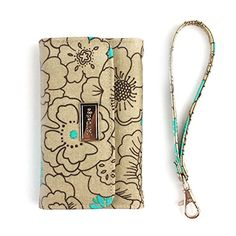 JAVOedge Poppy Clutch Wallet Case with Wristlet for the iPhone 6 Plus (5.5 inch) (Turuqoise)