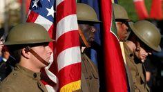 14 juillet  2017. La France rend hommage aux troupes américaines venues à son secours. Un hommage sur fond d'évocation et de reconstitution historiques !